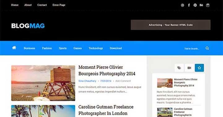 BlogMag Free Blogger Templates
