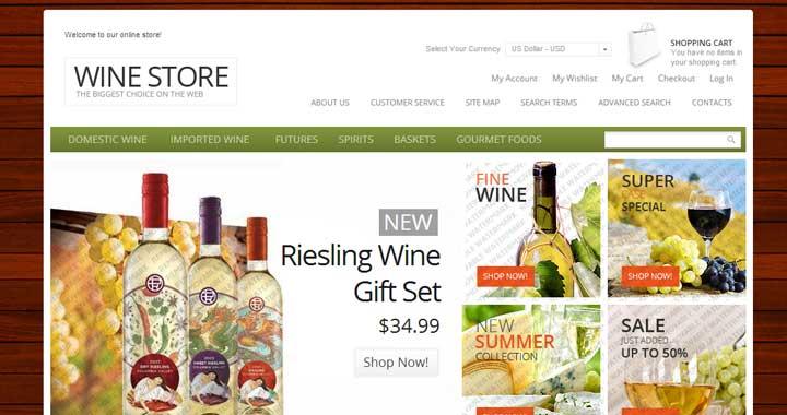Free Magento Wine Store