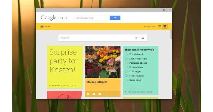 Google Keep Chrome App Store
