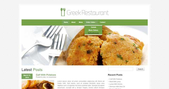 Greek Restaurant WordPress Themes For Food Blogs