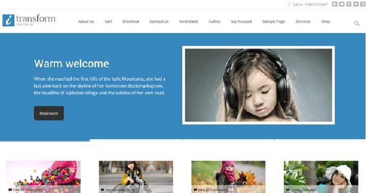 ITransform Free WooCommerce Theme