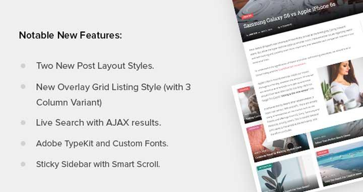 SmartMag WordPress Theme Features
