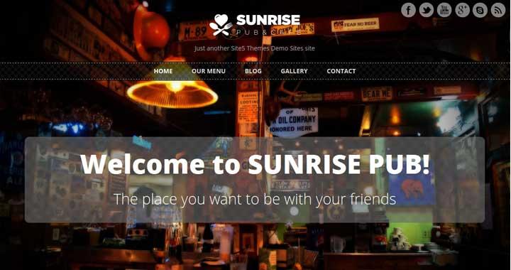 Sunrise Food WordPress Theme