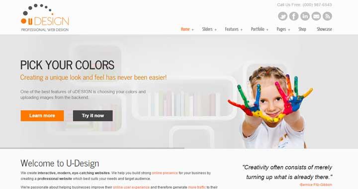 Download uDesign WordPress Theme