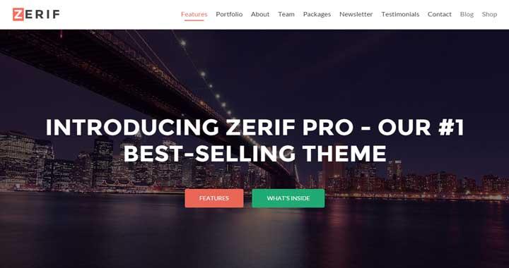 Zerif WooCommerce WordPress Theme