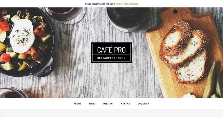 Cafe Pro Theme Studiopress