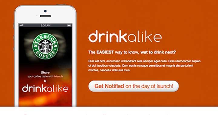 Drinkalike Coming Soon Website Template