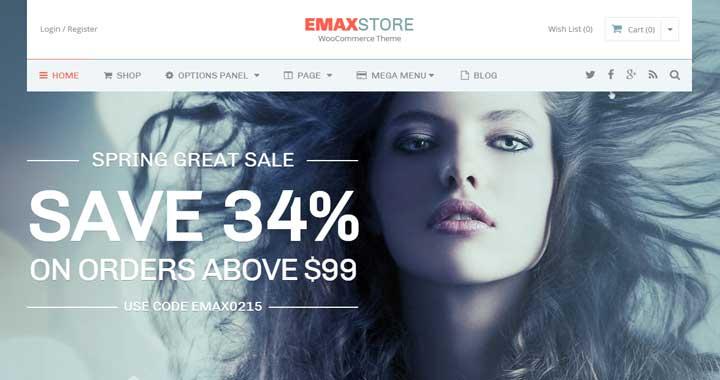 eMax store multipurpose corporate theme