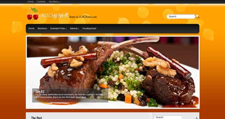 kitchener Theme WordPress Food Themes