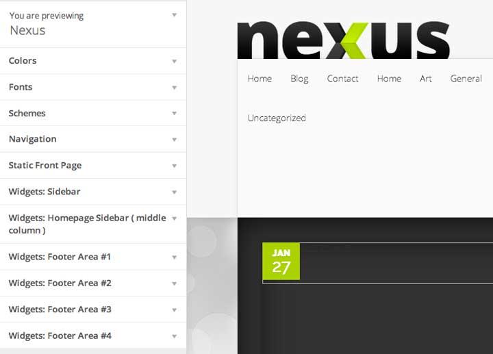 Nexu Theme Customizer