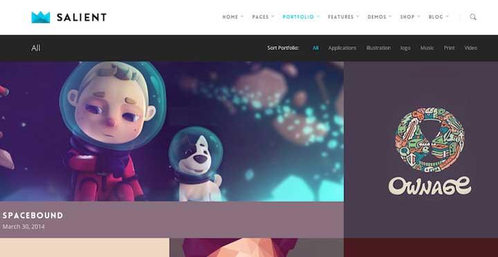 Salient WordPress Theme Download