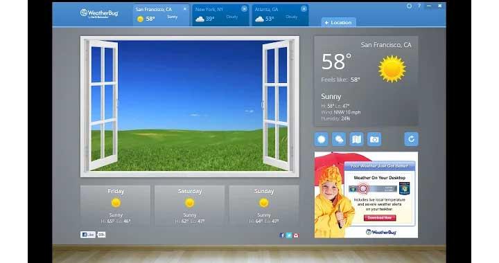 Weather Bug Chrome App Store