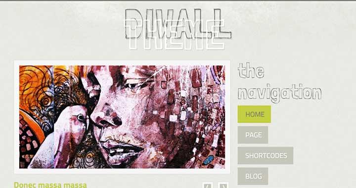 Diwall tumblr theme wordpress