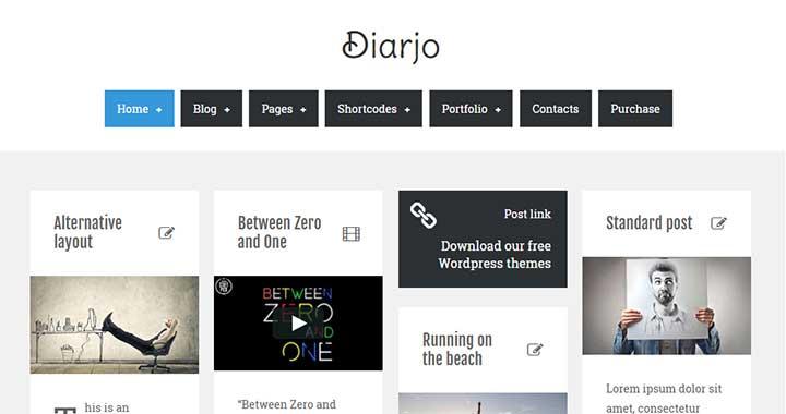 Djario Pinterest Like WordPress Theme