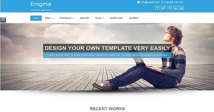 Enigma Free WordPress Portfolio Themes