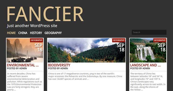 Fancier Pinterest Style WordPress Themes