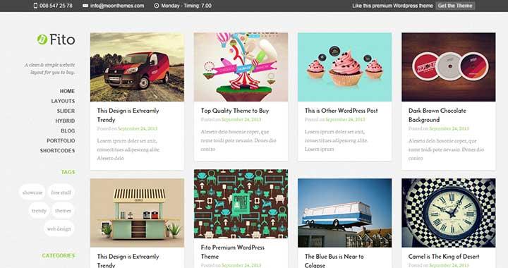 Fito Pinterest Style WordPress Theme