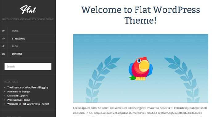 Flat Tumblr Theme WordPress