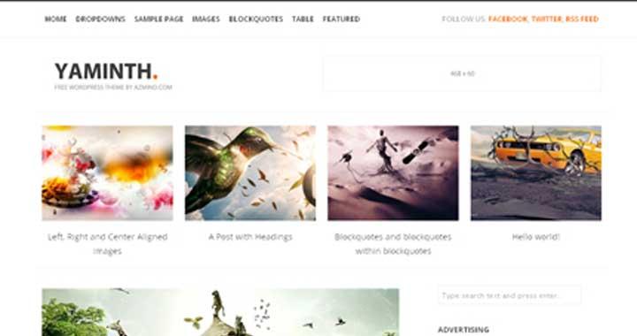 Free WordPress Theme Yaminth