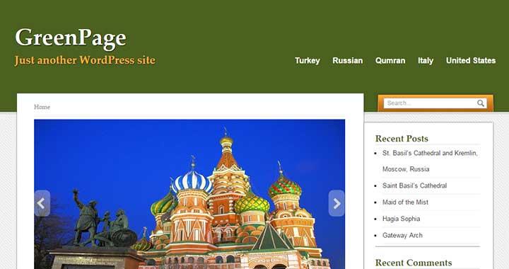 GreenPage WordPress Tumblr Theme