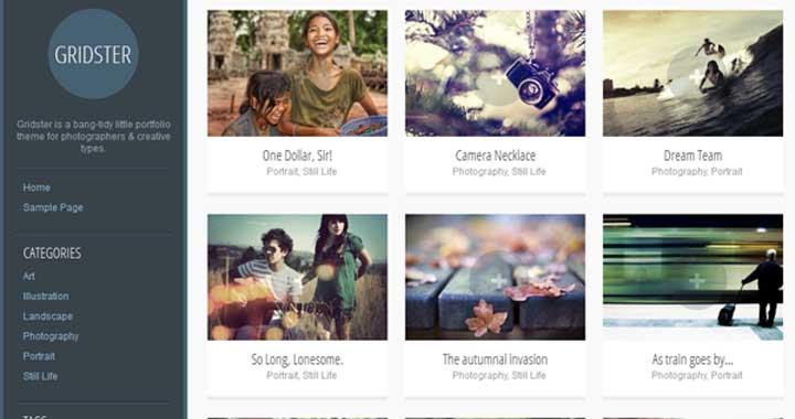 Gridstrer WordPress Portfolio Theme Free