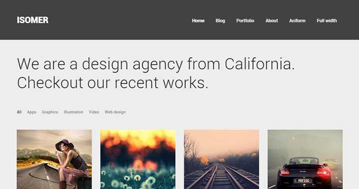 Isomer Pinterest Like WordPress Themes