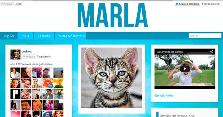 Marla WordPress Pinterest Themes