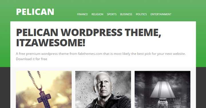 Pelican Pinterest Style WordPress Themes
