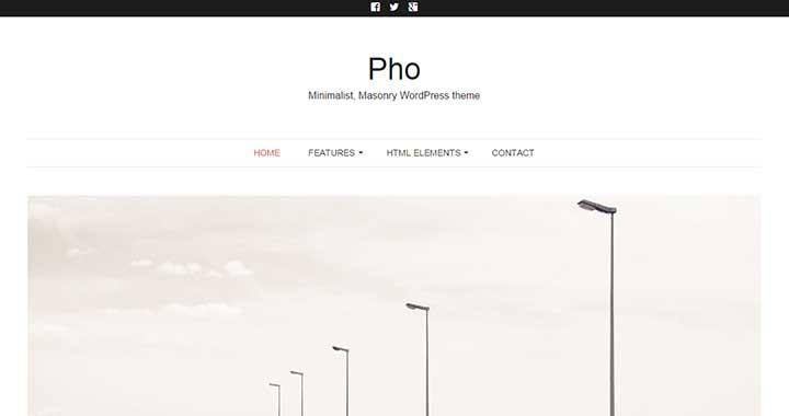 Pho Pinterest Like WordPress Theme