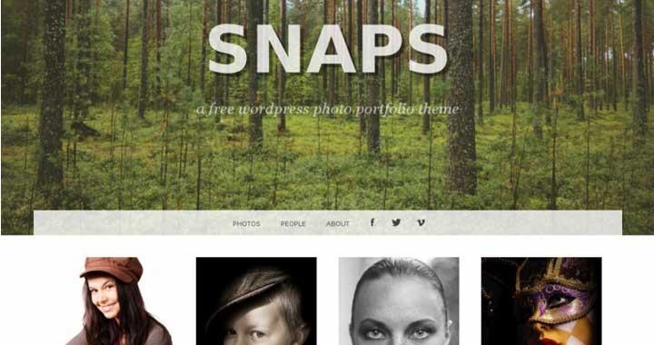 Snaps Best Free WordPress Portfolio Themes