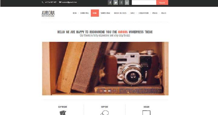 Avora WordPress Portfolio Themes Free