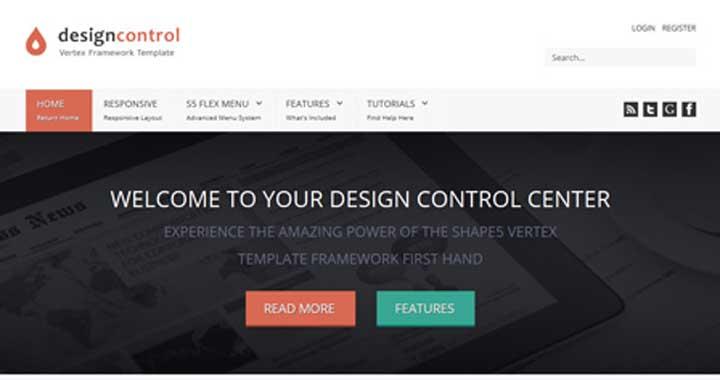 Design Control Best Joomla Theme