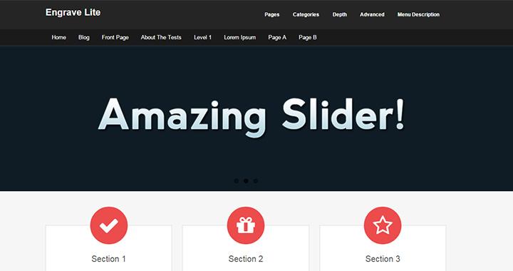 Engrave Free WordPress Blog Themes