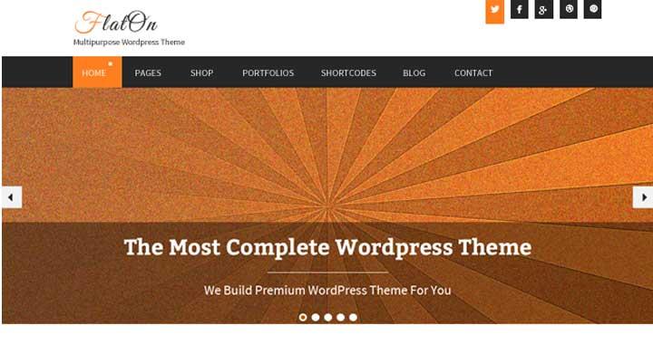 Flaton WordPress Free Portfolio Themes