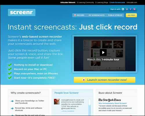 free screen recording software screenr
