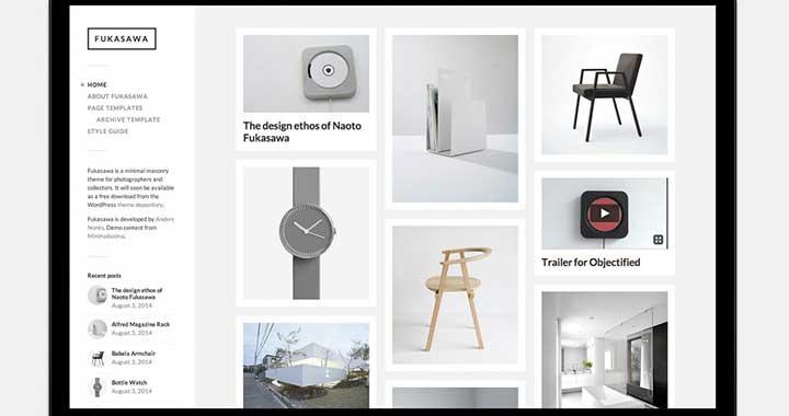 Fukusawa Free WordPress Portfolio Themes 2015