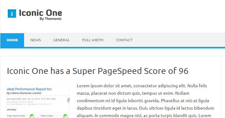 Iconic One Free WordPress Blog Themes Responsive