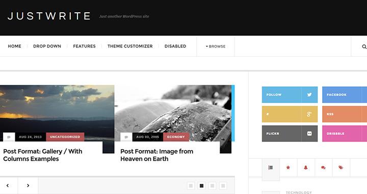 Justwrite Free Blog WordPress Themes