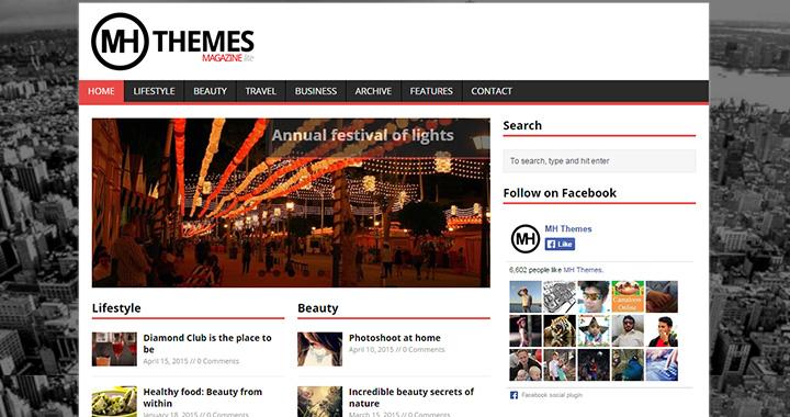MH Mag WordPress Free Blog Themes