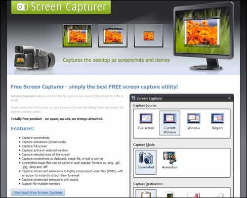 screen capturer best free screen recording software windows download program