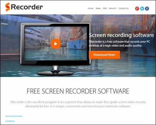 srecorder free screen recording software windows