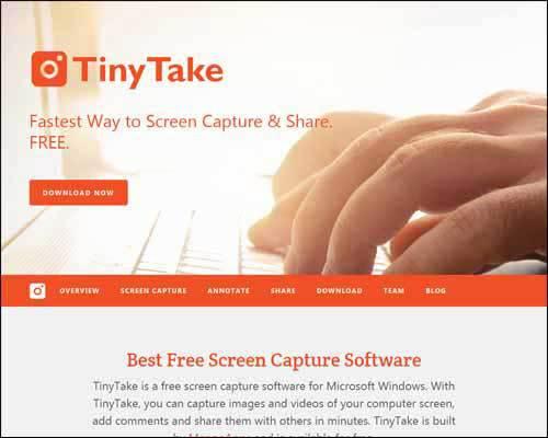 Tinytake Software Windows