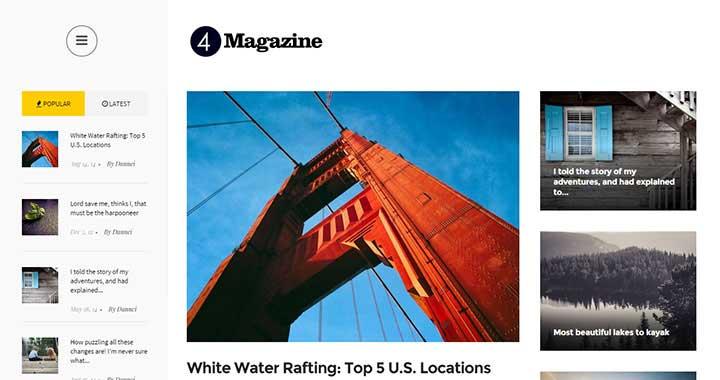 4Magazine WordPress Magazine Themes 2015