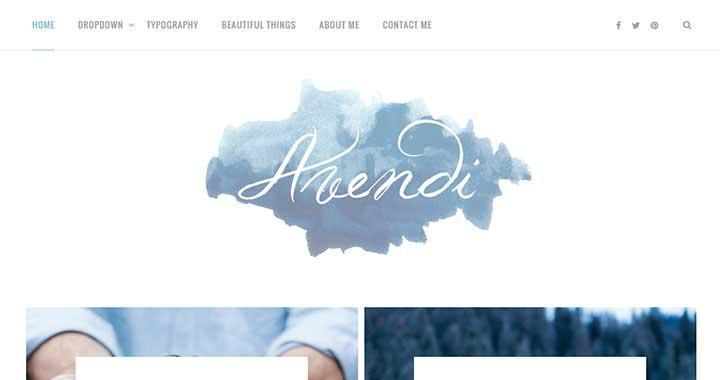 Avendi Best WordPress Blog Themes