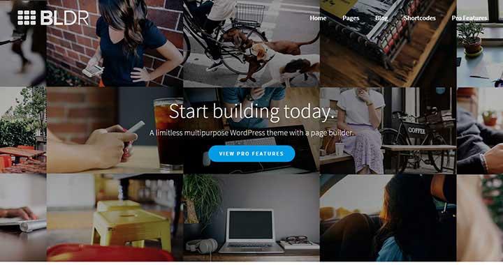 BLDR New WordPress Templare 2015