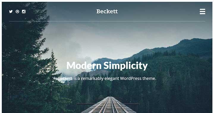 Beckett WordPress Portfolio Theme