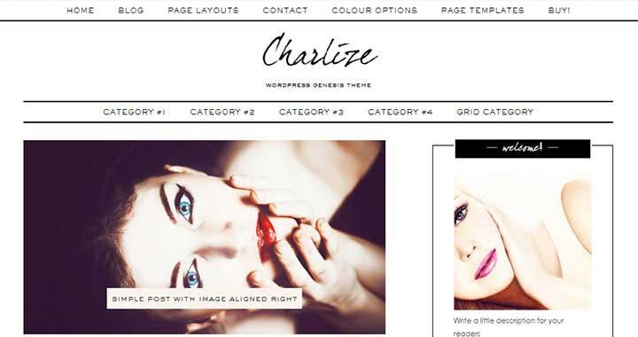 Charlize Free WordPress Blog Themes 2015
