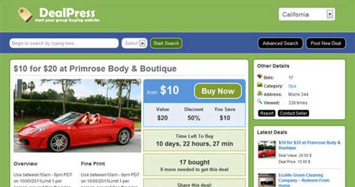 DealPress Group Buying Sites