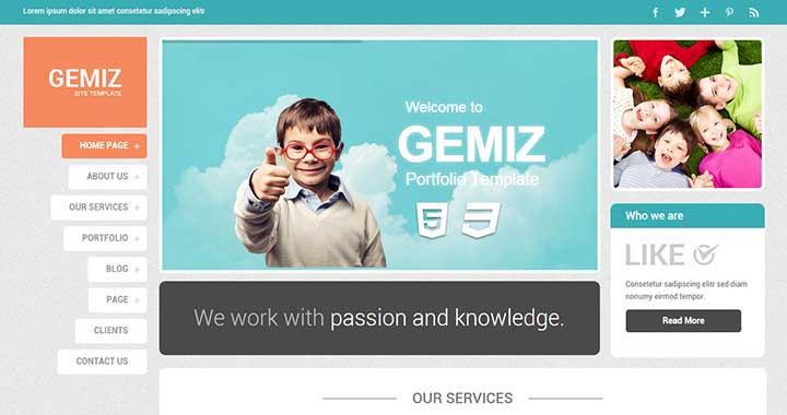 Gemiz WordPress Portfolio Theme Free