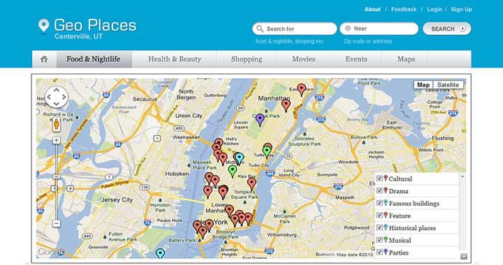 Geo Places WordPress Directory Theme